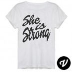 camiseta she is strong