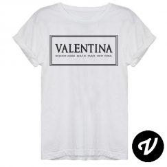 camiseta valentina rectangulo
