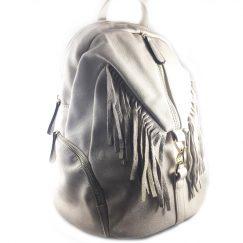 mochila gris piedra flecos 3