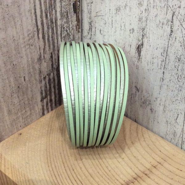 Pulsera imán polipiel verde